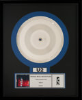 "Music Memorabilia:Memorabilia, U2 Original Metal Master Plate ""The Fly"" (Island, 1991) ..."