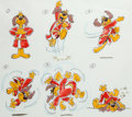 "animation art:Model Sheet, Hong Kong Phooey ""Kung Phooey, Series #74"" Model Sheet(Hanna-Barbera, 1974)...."