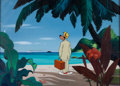 Animation Art:Production Cel, Hello, Aloha Goofy Production Cel and Key Master Background Setup (Walt Disney, 1952)....