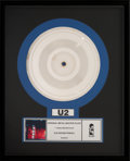 "Music Memorabilia:Memorabilia, U2 Original Metal Master Plate ""Alex Descends Into Hell"" (Island, 1992)..."