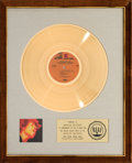 Music Memorabilia:Awards, Jimi Hendrix Electric Ladyland RIAA Gold Record Award(Reprise Records 6307, 1968)....