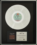 Music Memorabilia:Awards, Barry White Barry White Sings For Someone You Love PlatinumRecord Award (20th Century Fox T-543, 1977)....