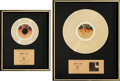 Music Memorabilia:Awards, Dan Hill Longer Fuse /Sometimes When We Touch Albumand Single Gold Record Awards Group (20th Century ... (Total: 2Items)