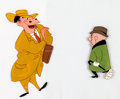 Animation Art:Production Cel, Trouble Indemnity Mr. Magoo Production Cel Setup (UPA,1950)....