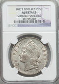 Dominican Republic, Dominican Republic: Republic Peso 1897 AU Details (Surface Hairlines) NGC,...