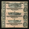 Confederate Notes:1864 Issues, T68 $10 1864 Three Consecutive.. ... (Total: 3 notes)