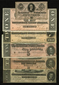 Confederate Notes:1864 Issues, 1864 Type Collection Very Fine or Better.. ... (Total: 6 notes)