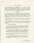 Autographs:Others, 1991 Mickey Mantle Signed Autograph Contract. The Commerce Cometagrees to the terms of commerce as presented by Ken Goldin...