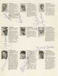 Autographs:Others, 1972 Joe DiMaggio & Mickey Mantle Signed Golf Program. It hasoften been reported that the elder Yankee legend was less tha...
