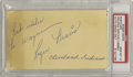 Autographs:Post Cards, 1957 Roger Maris Signed Government Postcard. One of the most appealing Maris autographs we've ever encountered. Penned jus...