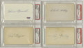 Autographs:Index Cards, Hall of Famer & Stars Signed Index Cards Lot of 8. Top qualityink from top quality names. All autographs appear on the bl...