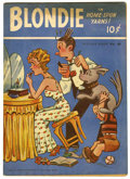 "Golden Age (1938-1955):Cartoon Character, Feature Books #42 Blondie - Davis Crippen (""D"" Copy) pedigree(David McKay, 1944) Condition: FN/VF...."