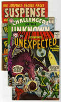 Silver Age (1956-1969):Horror, Tales of the Unexpected and Challengers of the Unknown Group (DC,1957-64) .... (Total: 3 Comic Books)