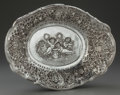 Silver Holloware, Continental, A CONTINENTAL SILVER OVAL BOWL, circa 1900. Marks: JR, 925.2-3/8 x 14-7/8 x 11 inches (6.0 x 37.8 x 27.9 cm). 19.87 tro...