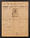 """Movie/TV Memorabilia:Documents, A Georgia Newspaper Related to """"Gone With The Wind.""""..."""