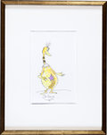 "Books:Original Art, Dr. Seuss (Theodore Geisel, 1904-1991, American artist and writer).Original drawing of a ""Star-Bellied Sneetch."" [N.p., n.d.]..."