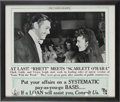 """Movie/TV Memorabilia:Posters, An Advertisement Related to """"Gone With The Wind."""" 1939...."""