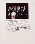 "Movie/TV Memorabilia:Autographs and Signed Items, A Signed Color Photograph Display of Cast Members from ""Gone WithThe Wind,"" Circa 1980s...."