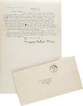 Movie/TV Memorabilia:Autographs and Signed Items, A Margaret Mitchell Signed Letter, 1936....