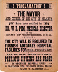 "Movie/TV Memorabilia:Props, A Prop Broadside Poster from ""Gone With The Wind.""..."
