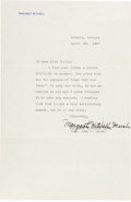Movie/TV Memorabilia:Autographs and Signed Items, A Margaret Mitchell Signed Letter, 1937....