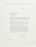 Movie/TV Memorabilia:Documents, A Margaret Mitchell-Related File Copy Letter, 1936....