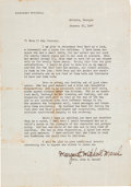 Movie/TV Memorabilia:Autographs and Signed Items, A Margaret Mitchell Signed Letter of Reference, 1947....