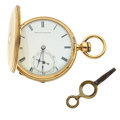 Timepieces:Pocket (pre 1900) , Waltham 10k Gold Hunter's Case Pocket Watch. ...