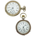 Timepieces:Pocket (pre 1900) , Rockford & Pioneer Open Face Pocket Watches Runners. ...(Total: 2 Items)