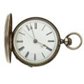 Timepieces:Pocket (pre 1900) , Chinese Duplex Silver Key Wind Pocket Watch. ...