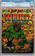Golden Age (1938-1955):Horror, Blue Bolt #112 (Star Publications, 1952) CGC VF- 7.5 Off-whitepages....