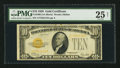 Small Size:Gold Certificates, Fr. 2400 $10 1928 Gold Certificate. PMG Very Fine 25 Net.. ...