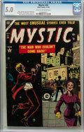 Golden Age (1938-1955):Horror, Mystic #34 (Atlas, 1954) CGC VG/FN 5.0 Cream to off-white pages....