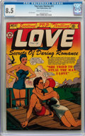 Golden Age (1938-1955):Romance, Top Love Stories #11 (Star Publications, 1953) CGC VF+ 8.5 Cream tooff-white pages....