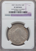 Early Half Dollars, 1807 50C Draped Bust -- Improperly Cleaned -- NGC Details. XF. NGCCensus: (77/335). PCGS Population (135/389). Mintage: 30...