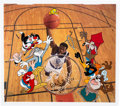 Animation Art:Limited Edition Cel, The Legendary Big Man Limited Edition Cel AP #45/50 Signedby Patrick Ewing (Warner Brothers, 1996)....