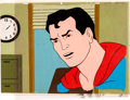Animation Art:Production Cel, The New Adventures of Superman Production Cel with MasterBackground (Filmation, 1966)....