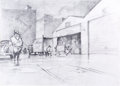 Animation Art:Production Drawing, Darkwing Duck Concept/Layout Drawing (Walt Disney, 1991)....
