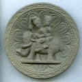 Antiquities:Indo-Greek, Antiquities: INDIA. Indo-Greek or Kushan Empire. Ca. 1st-3rdcenturies AD. Carved stone roundel (93mm, 190 gm). ...