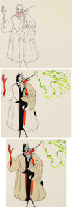 Animation Art:Presentation Cel, One Hundred and One Dalmatians Cruella De Vil PresentationCel Group (Walt Disney, c. 1980-90s)....