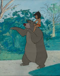 Animation Art:Production Cel, The Jungle Book Mowgli and Baloo Production Cel Setup (WaltDisney, 1967)....