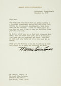 Autographs:U.S. Presidents, Mamie Doud Eisenhower Typed Letter Signed...