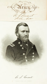 Ulysses S. Grant Signature With Rank