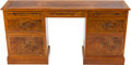 Furniture , AN AMERICAN BURL WALNUT AND MAHOGANY DESK, circa 1990. 30 x 58 x 14 inches (76.2 x 147.3 x 35.6 cm). PROPERTY FROM THE COL...