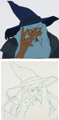 Animation Art:Production Cel, The Lord of the Rings Gandalf Production Cel with AnimationDrawing (Bakshi/United Artists, 1978)....