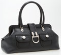 "Luxury Accessories:Accessories, Christian Dior Black Leather Tote Bag. Good to Very GoodCondition. 11"" Width x 7"" Height x 5"" Depth. ..."