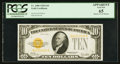 Small Size:Gold Certificates, Fr. 2400 $10 1928 Gold Certificate. PCGS Apparent Gem New 65.. ...