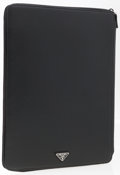 "Luxury Accessories:Accessories, Prada Black Saffiano Leather Notepad. Very Good to ExcellentCondition. 10"" Width x 13"" Height x 1"" Depth. ..."