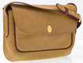 "Luxury Accessories:Accessories, Cartier Light Brown Grained Leather Shoulder Bag. Good Condition. 7.5"" Width x 7"" Height x 1.5"" Depth, 21"" Shoulder Dr..."