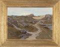 Fine Art - Painting, American:Modern  (1900 1949)  , STEPHEN PARRISH (American, 1846-1938). Path through a RockyLandscape, 1915. Oil on canvas. 25 x 35 inches (63.5 x 88.9 ...